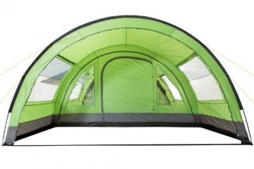 CampFeuer - XXL Tunnelzelt, 2 Kabinen, 6 Personen, grün-grau, 5000 mm WS - 5