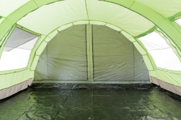 CampFeuer - XXL Tunnelzelt, 2 Kabinen, 6 Personen, grün-grau, 5000 mm WS - 6