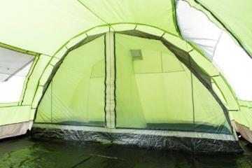 CampFeuer - XXL Tunnelzelt, 2 Kabinen, 6 Personen, grün-grau, 5000 mm WS - 7