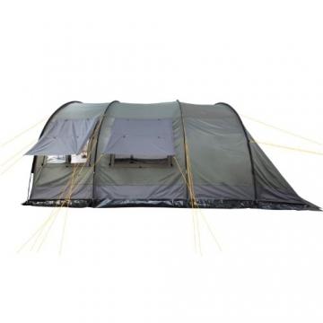 CampFeuer - XXL Tunnelzelt, 2 Kabinen, 6 Personen, olivgrün-grau, 5000 mm WS - 7
