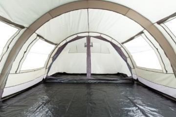 CampFeuer - XXL Tunnelzelt, 2 Kabinen, 6 Personen, olivgrün-grau, 5000 mm WS - 8