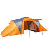 Campingzelt Loksa, 6-Mann Zelt Kuppelzelt Igluzelt Festival-Zelt, 6 Personen ~ orange - 1