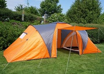 Campingzelt Loksa, 6-Mann Zelt Kuppelzelt Igluzelt Festival-Zelt, 6 Personen ~ orange - 3