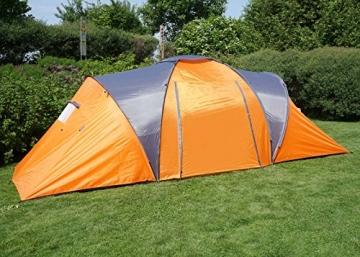 Campingzelt Loksa, 6-Mann Zelt Kuppelzelt Igluzelt Festival-Zelt, 6 Personen ~ orange - 4