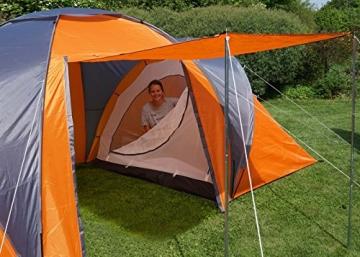 Campingzelt Loksa, 6-Mann Zelt Kuppelzelt Igluzelt Festival-Zelt, 6 Personen ~ orange - 5