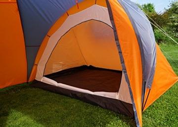 Campingzelt Loksa, 6-Mann Zelt Kuppelzelt Igluzelt Festival-Zelt, 6 Personen ~ orange - 6