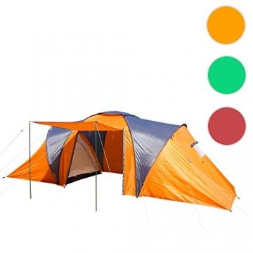 Campingzelt Loksa, 6-Mann Zelt Kuppelzelt Igluzelt Festival-Zelt, 6 Personen ~ orange - 8