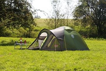 Coleman Darwin 3+ Zelt, 3 Personen, 3 Mann Zelt, Igluzelt, Festivalzelt, Leichtes Kuppelzelt mit Vorzelt, Wasserdicht WS 3.000 mm - 4