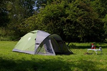 Coleman Darwin 3+ Zelt, 3 Personen, 3 Mann Zelt, Igluzelt, Festivalzelt, Leichtes Kuppelzelt mit Vorzelt, Wasserdicht WS 3.000 mm - 6