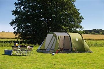 Coleman Zelt Galileo 5, 5 Mann Zelt, 5 Personen Tunnelzelt, Campingzelt, Familienzelt mit Vorzelt, wasserdicht WS 3.000mm - 3