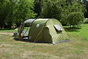 Coleman Zelt Galileo 5, 5 Mann Zelt, 5 Personen Tunnelzelt, Campingzelt, Familienzelt mit Vorzelt, wasserdicht WS 3.000mm - 4