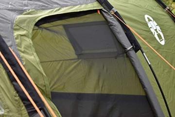 Coleman Zelt Galileo 5, 5 Mann Zelt, 5 Personen Tunnelzelt, Campingzelt, Familienzelt mit Vorzelt, wasserdicht WS 3.000mm - 6