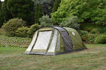 Coleman Zelt Galileo 5, 5 Mann Zelt, 5 Personen Tunnelzelt, Campingzelt, Familienzelt mit Vorzelt, wasserdicht WS 3.000mm - 7