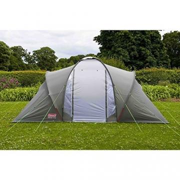 Coleman Zelt Ridgeline 4 Plus, 4 Mann Zelt, 4 Personen Vis-A-Vis Tunnelzelt, Campingzelt, Kuppelzelt mit Sonnendach, wasserdicht WS 4.000mm - 11