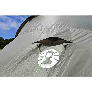 Coleman Zelt Ridgeline 4 Plus, 4 Mann Zelt, 4 Personen Vis-A-Vis Tunnelzelt, Campingzelt, Kuppelzelt mit Sonnendach, wasserdicht WS 4.000mm - 15