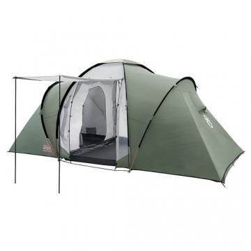 Coleman Zelt Ridgeline 4 Plus, 4 Mann Zelt, 4 Personen Vis-A-Vis Tunnelzelt, Campingzelt, Kuppelzelt mit Sonnendach, wasserdicht WS 4.000mm - 1