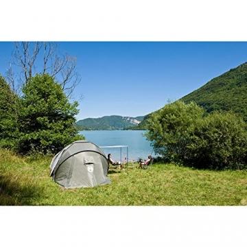 Coleman Zelt Ridgeline 4 Plus, 4 Mann Zelt, 4 Personen Vis-A-Vis Tunnelzelt, Campingzelt, Kuppelzelt mit Sonnendach, wasserdicht WS 4.000mm - 6