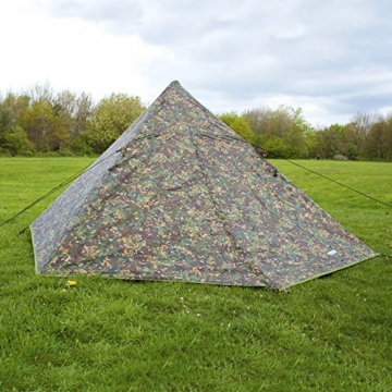 DD Pyramiden Zelt MC Camouflage - Außenzelt - 2