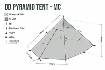 DD Pyramiden Zelt MC Camouflage - Außenzelt - 3