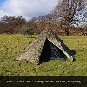 DD Pyramiden Zelt MC Camouflage - Außenzelt - 4