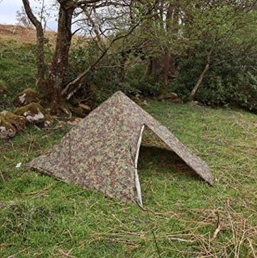 DD Pyramiden Zelt MC Camouflage - Außenzelt - 5