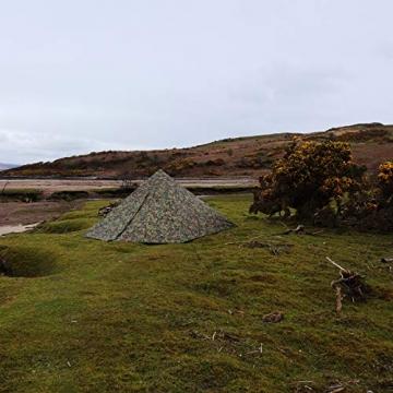 DD Pyramiden Zelt MC Camouflage - Außenzelt - 6