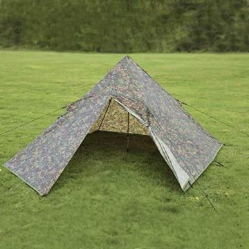 DD Pyramiden Zelt MC Camouflage - Außenzelt - 8