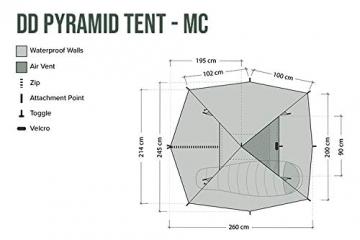 DD Pyramiden Zelt MC Camouflage - Außenzelt - 9