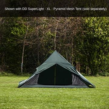 DD superleichtes Pyramidenzelt XL extra groß olivgrün - Zweimannzelt, Aussenzelt ohne Zeltboden - 2