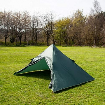 DD superleichtes Pyramidenzelt XL extra groß olivgrün - Zweimannzelt, Aussenzelt ohne Zeltboden - 3
