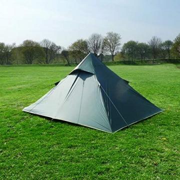 DD superleichtes Pyramidenzelt XL extra groß olivgrün - Zweimannzelt, Aussenzelt ohne Zeltboden - 4