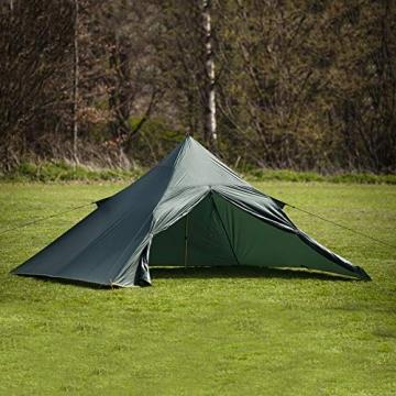 DD superleichtes Pyramidenzelt XL extra groß olivgrün - Zweimannzelt, Aussenzelt ohne Zeltboden - 1