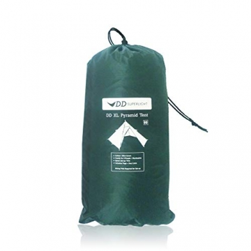 DD superleichtes Pyramidenzelt XL extra groß olivgrün - Zweimannzelt, Aussenzelt ohne Zeltboden - 5