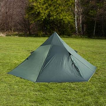 DD superleichtes Pyramidenzelt XL extra groß olivgrün - Zweimannzelt, Aussenzelt ohne Zeltboden - 6