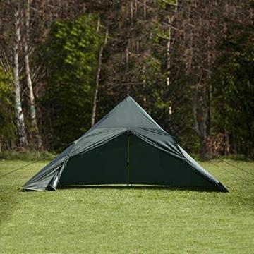 DD superleichtes Pyramidenzelt XL extra groß olivgrün - Zweimannzelt, Aussenzelt ohne Zeltboden - 7
