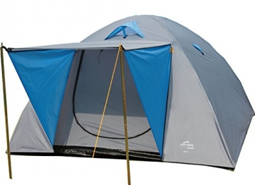 EXPLORER Zelt Iglu 2 Doppeldach Kuppelzelt mit Vordach Igluzelt 210x205x130cm 3 Personen 1500mm Wassersäule wettergeschützter Eingang Outdoor Wandern Familie Camping - 1