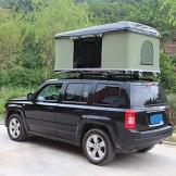 Fahrzeugzelt Harte Schale Dachzelt Autodachzelt 2-3 Leute, Mit Faltleiter aus Aluminiumlegierung, Grünes Zelt + Schwarze Schale - 1