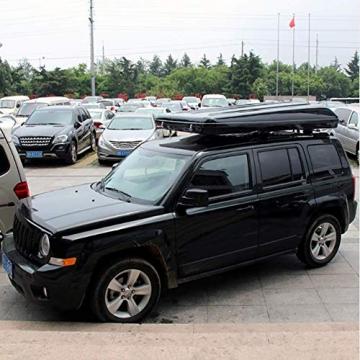 Fahrzeugzelt Harte Schale Dachzelt Autodachzelt 2-3 Leute, Mit Faltleiter aus Aluminiumlegierung, Grünes Zelt + Schwarze Schale - 5
