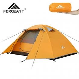 Forceatt Zelt 2 Personen Camping Wasserdicht 3-4 Saison,Ultraleicht Zelte Mit Kleinem Packmaß, Kuppelzelt Sofortiges Aufstellen Für Trekking, Outdoor, Festival. - 1