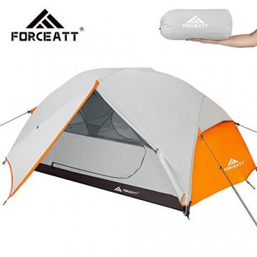 Forceatt Zelt 2 Personen Camping Zelt, 2 Doors Wasserdicht & Winddicht & Insektensicher 3-4 Saison Ultraleichte Rucksack Zelt für Trekking, Camping, Outdoor. - 1