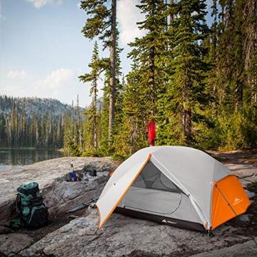 Forceatt Zelt 2 Personen Camping Zelt, 2 Doors Wasserdicht & Winddicht & Insektensicher 3-4 Saison Ultraleichte Rucksack Zelt für Trekking, Camping, Outdoor. - 8