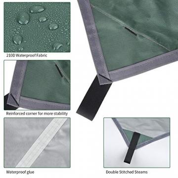 GEEDIAR Zeltplane Wasserdicht, 3x3m-PU3000mm Regen Fliegen Sonnenschutz für Zelt, Anti-UV, Leichte Tragbare für Camping, Reisen, Hängematten Zelt Tarp - 3