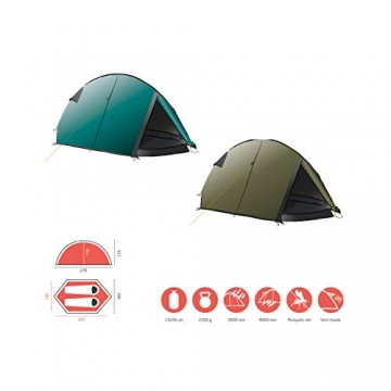 Grand Canyon CARDOVA 1 - Tunnelzelt für 1-2 Personen | Ultra-leicht, wasserdicht, kleines Packmaß | Zelt für Trekking, Camping, Outdoor | Capulet Olive (Grün) - 3
