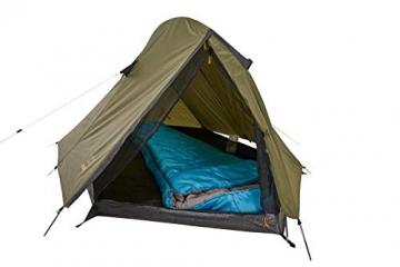 Grand Canyon CARDOVA 1 - Tunnelzelt für 1-2 Personen | Ultra-leicht, wasserdicht, kleines Packmaß | Zelt für Trekking, Camping, Outdoor | Capulet Olive (Grün) - 4