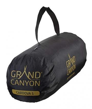Grand Canyon CARDOVA 1 - Tunnelzelt für 1-2 Personen | Ultra-leicht, wasserdicht, kleines Packmaß | Zelt für Trekking, Camping, Outdoor | Capulet Olive (Grün) - 5