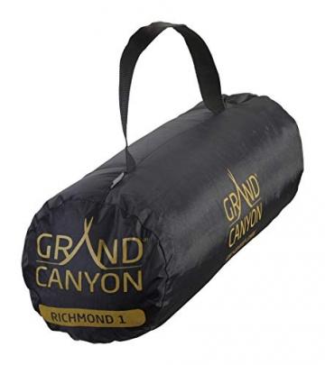 Grand Canyon Richmond 1 - Tunnelzelt für 1 Person | Ultra-leicht, wasserdicht, kleines Packmaß | Zelt für Trekking, Camping, Outdoor | Capulet Olive (Grün) - 7