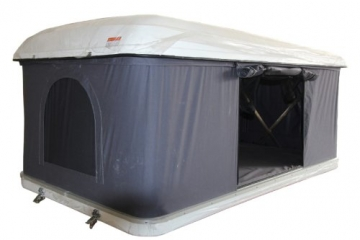 Hartschalen-Autodachzelt, GFK grau, Öffnung automatisch von Prime Tech - 1