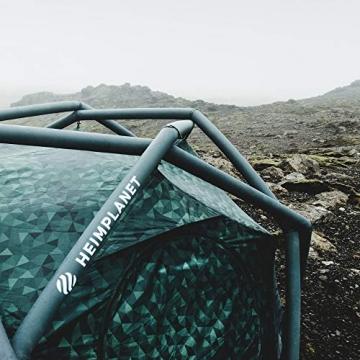 HEIMPLANET Original | THE CAVE 2-3 Personen Kuppelzelt | Aufblasbares Camping Zelt - In Sekunden errichtet | Wasserdichtes Außenzelt und Zeltboden - 5000mm Wassersäule | Keine Zeltstangen nötig | Unterstützt 1% For The Planet - 5