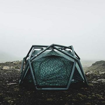 HEIMPLANET Original | THE CAVE 2-3 Personen Kuppelzelt | Aufblasbares Camping Zelt - In Sekunden errichtet | Wasserdichtes Außenzelt und Zeltboden - 5000mm Wassersäule | Keine Zeltstangen nötig | Unterstützt 1% For The Planet - 6