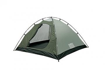 High Peak Kuppelzelt Nevada 4, Campingzelt mit Vorbau, Iglu-Zelt für 4 Personen, doppelwandig, 2.000 mm wasserdicht, Ventilationssystem, Wetterschutz-Eingang, Moskitoschutz - 2